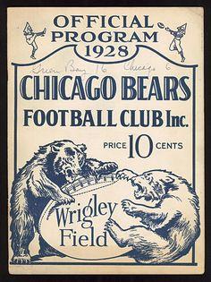 chicago bears and Wrigley field.nothing could match those days Bears Football, Chicago Football, Sport Football, Chicago Bears, The Sporting Life, Wrigley Field, Chicago Style, Football Program, Poster