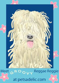 Happy go lucky Reggae Reggie is ready to make a new friend. Find him as a boxed note card set and as wall art. Exclusively at petsadelic.com.