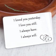 Valentine's Day - christmas gift for spouse i loved you yesterday i love you still i always have i always will wallet -