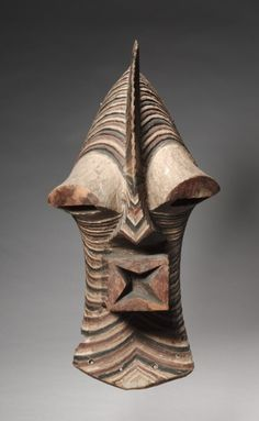 Africa   Mask from the Songye people of the DR Congo   Wood and pigment   ca. 1930s