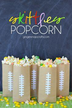 Skittles Popcorn at GingerSnapCrafts.com #popcorn #recipe #yummy