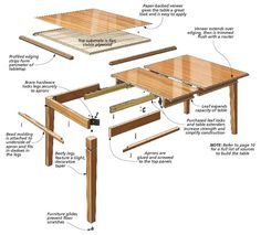 This elegant table is sure to be a worthy centerpiece for your family gatherings for generations to come. Coffee Table To Dining Table, Wood Table, Woodworking Tutorials, Woodworking Plans, Woodworking Apron, Woodworking Supplies, Woodworking Furniture, Furniture Plans, Amish