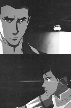 Mako and Korra after their breakup. (I feel bad for Mako, because he was just doing his job, and he was already confused about what Korra wanted from him, did she want his advice, or did she just want him to listen?)