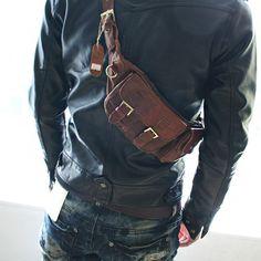 Kook Fanny Waist Pack Leather Bag Ba009
