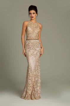 Sleeveless Jovani lace dress