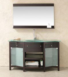lineaaqua sophia 58 x 21 modern bathroom vanity furniture with vanity mirror faucet