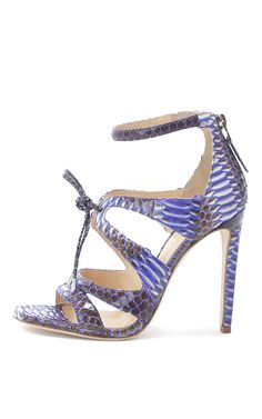 Purple Watersnake Bryonia Sandal by Chloe Gosselin for Preorder on Moda Operandi