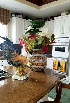 The Original Authentic #Italian #ceramic #rooster, A Stylish Accent In The  Kitchen And Dining Room. An #Intrada #Italy #rooster Brings Good Fortune To  Homes ...