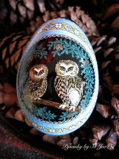 So Jeo LeBlond: Pysanky Easter Eggs with Owls