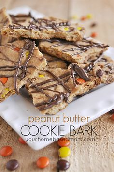 peanut butter cookie bark @30dayblog
