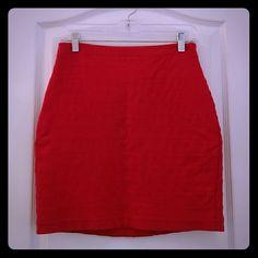 Fuschia Bandage Skirt Gorgeous jewel tone fuschia bandage skirt. Very slimming with back zip. Express Skirts