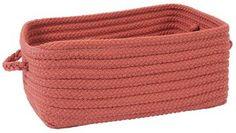 Martha Stewart Living™ Woven Storage Basket - Bins & Baskets - Storage & Organization - Storage & Display   HomeDecorators.com Will's room - navy