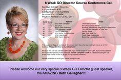 8 wks to directorship