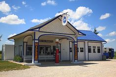 """Route 66 - Odell Gas Station in Illinois. """"The Fine Art Photography of Frank Romeo."""""""