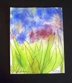 Late Summer Flowers C Peterson Original Watercolor Painting Impressionist | eBay