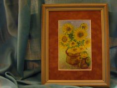 Sunflowers - Enamel Picture