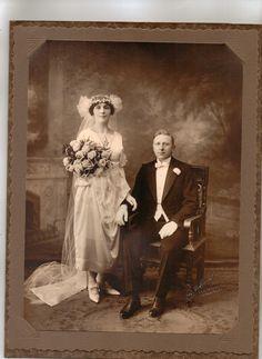 "i really love the idea of getting an old picture of relatives (or really perfect strangers, i kind of like that idea too) posed in their wedding garb. Union Station in KC did a ""all brides are princesses"" type exhibit to go along with diana- lots of beautiful photos and gowns"