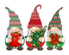 Winter Clipart, Christmas Clipart, Christmas Images, Halloween Clipart, Christmas Gnome, Christmas Art, Christmas Ornaments, Xmas, Scandinavian Gnomes