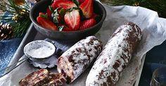 This chocolate and Amaretti salami recipe is the perfect dessert.