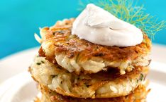 Celebrate the Hannukah with a stack of latkes and a variety of toppings that your friends and family will love.