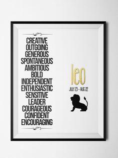 Leo Qualities Print