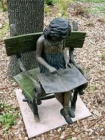Little Girl Reading ~ Wonderful Sculpture, For My Garden, Please?