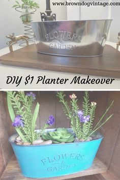 See how I transformed this $1 planter using only a few basic supplies.