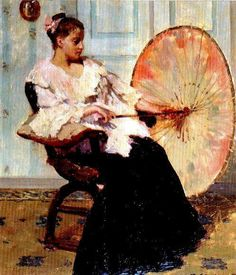 Young Lady with Parasol, Frans Smeers