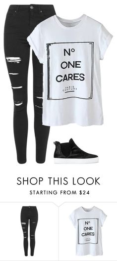 """""""GA /martes"""" by genesisarango ❤ liked on Polyvore featuring beauty, Topshop, WithChic and Zara"""