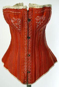 Corset -- 1880s -- American -- Cotton -- The Costume Institute at The Metropolitan Museum of Art