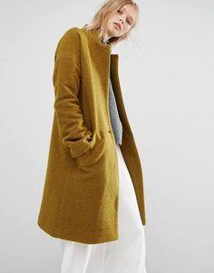 ladies mustard coat