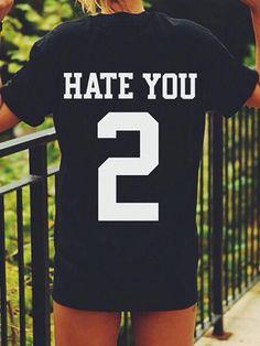 Black Letter And Number Back Short Sleeve T-shirt 9498e2d557d28