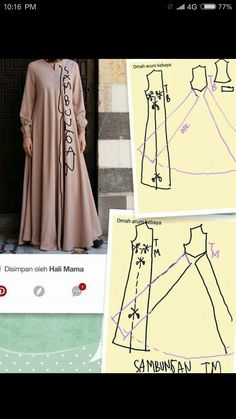 super ideas for sewing clothes women gowns dress patterns Sewing Clothes Women, Sewing Pants, Dress Clothes For Women, Sewing Dresses For Women, Dress Sewing Patterns, Clothing Patterns, Long Dress Patterns, Abaya Pattern, Costura Fashion