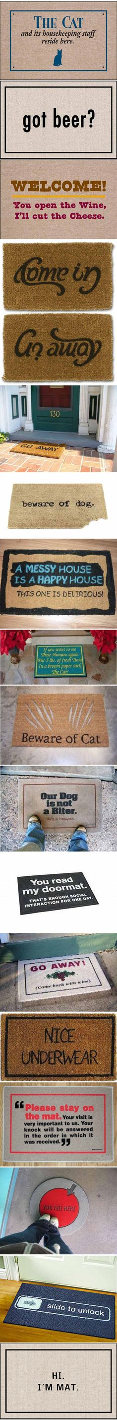 17 Creatively Original Door Mats | Mommy Has A Potty MouthMommy Has A Potty Mouth