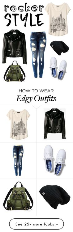 """Edgy"" by neverstopscreating on Polyvore featuring Banana Republic, Yves Saint Laurent, Keds, Burberry, rockerchic and rockerstyle"