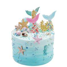 Taartversieringen | Cupcake-store and More! Glitter Birthday Cake, Mermaid Birthday Cakes, Happy Birthday Cupcakes, 3rd Birthday Cakes, Birthday Desserts, Glitter Cake, Birthday Cake Decorating, Cake Decorating Supplies, 1st Birthday Girls