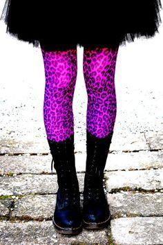 Doctor Martens  Leopard print tights  tutu skirt