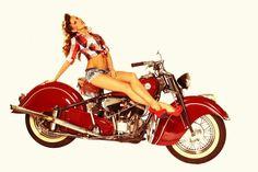 Pin Up Girls And Motorcycles Indian motorcycles and a pinup Indian Motorbike, Vintage Indian Motorcycles, Vintage Bikes, Antique Motorcycles, Dita Von Teese, Car Girls, Pin Up Girls, Indian Motors, Estilo Pin Up