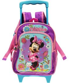 d7e3ae34d1 Disney Minnie Mouse Girls Purple Rolling Backpack « Clothing Impulse Rolling  Backpack