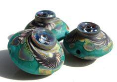 Desert Serpent Jewel Mermaid-handmade lampwork bead by Genea