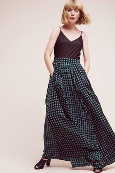 Pilato Printed Maxi Skirt, Black