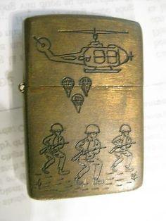 Vintage Vietnam Zippo Lighters | ZIPPO LIGHTER – 1964 – 1965 CHU LAI-Marine-AirForce-Vietnam War ...