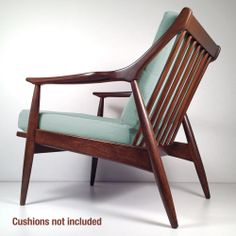 Vintage Mid Century Danish Modern Lounge Chair - Retro Armchair Restored