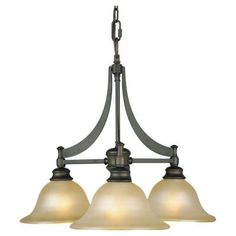 Feiss Pub 3-Light Oil Rubbed Bronze Chandelier-F1922/3ORB - The Home Depot