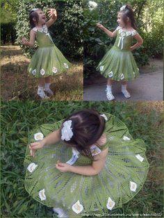 Todo para Crear ... : Vestidos de fiestas en crochet para las de princesas de la casa
