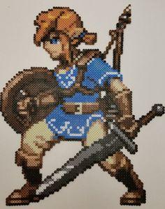 Legend of Zelda Breath of the Wild Link Perler by jrfromdallas.deviantart.com on @DeviantArt