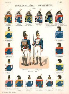 Королевство Вюртемберг Союзные войска. Uniformes de I'Armee Francaise 1690-1894 Lienhart & Humbert