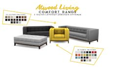 Simsational Designs: UPDATED: Atwood Living - Lounge Room Set for TS4