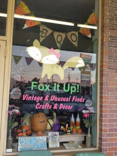 Fox it up store display.  All items available for purchase