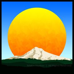 """""""Mt. Hood Sunrise"""" Gilclee art print available through my ETSY store. Cheers=)"""